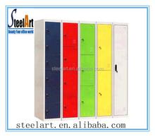2015 top design excellent steel door colorful storage locker/wardrobe for school and hospital