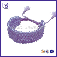HOT NEW PURPLE CRYSTAL BEAD LUXURY BIO MAGNETIC PRODUCTS BRACELET FOR GIRLS