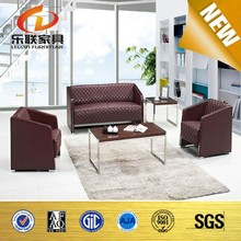 High quality Leather Sofa Modern design Office sofa with steel