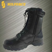 high quality police uniform shoes ranger boot cheap black security police shoe