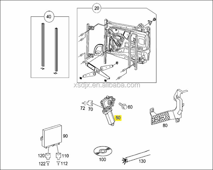 Actros Spare Parts Window Motor 0008204908