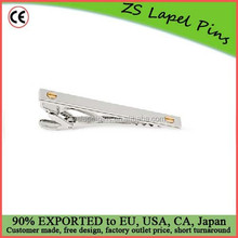 Personalized design quality Metal PALLADIUM AND GOLD-PLATED TIE CLIP