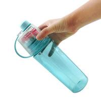 Custom 600ml mist spray water bottle sport water bottle school kids water bottle