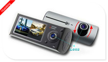 CHEAPEST !!!!!!2.7 inch 1080P 2 channel gps function dual car camera