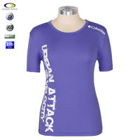 cotton and spandex big round neck t-shirt for women