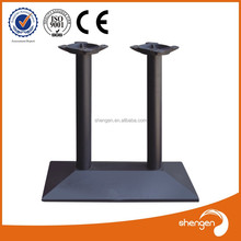 buffet furniture wrought iron metal black rectangle table l Cast iron Table leg Base with 2 legs for canteen/coffee shop HD056