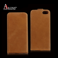 Good quality genuine flip leather case for iphone 6s case