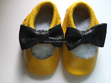 Genuine cow leather cute soft fringe baby moccasins import handmade baby casual shoes infant boots girls wholesale