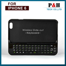 Sliding Mini Wireless Bluetooth Keyboard Hard Cover Case For iPhone 6 4.7""
