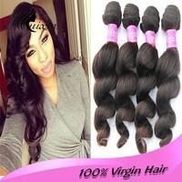 Hot new product 100% unprocessed loose wave brazilian hair full cuticle virgin human Brazilian hair