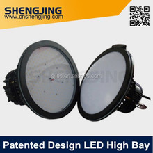 UFO-shaped exterior smd3030 high efficiency 150W led high bay with milky PC cover or flat clear tempered glass