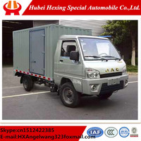 2 axles 2015 NEW Factory outlet JAC 4x2 Small van transport truck