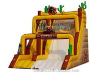 China factory price commercial giant inflatable slide, inflatable jumping slide