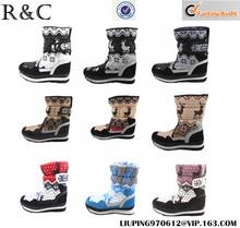 Caliente venta de impresión botas botas de invierno patrón S027