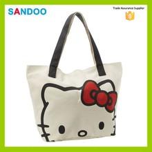 2015 China manufacturer hello kitty bags, hello kitty canvas woman handbag