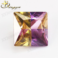 square multicolor cz brilliant gems cubic zirconia stones