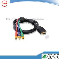vga 15pin to 4pin 4 rca cable
