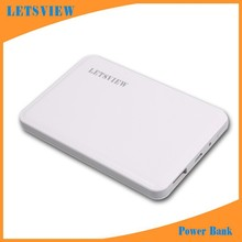 LETSVIEW Wholesale Dropshipping External Mobile Backup Power bank Battery for iPhone iPod iPad mobile Phone Universal Charger