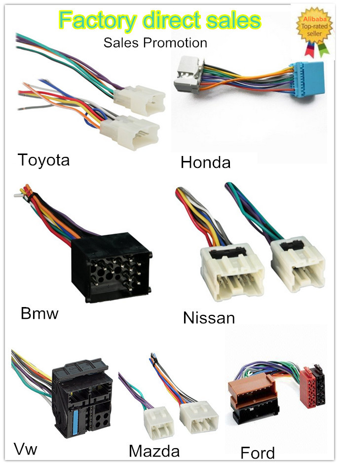 auto car replacement for cars 20 pin iso wire harness radio cable rh alibaba com replacement car stereo wiring harness