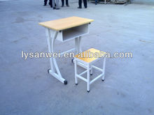 metal single school desk and chair
