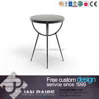 Top clear tempered glass , glass no flower round coffee table