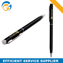 Classic Black Roll Hotel Metal Ball Pens Slim Metal Pen