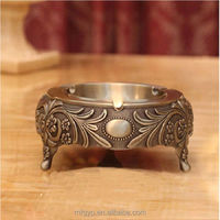 Made in china custom metal antique copper ashtray