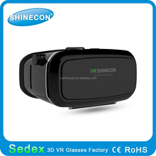 Best virtual reality brand VR SHINECON 3d VR Glasses for 3.5-6inch smartphone