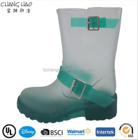 Women waterproof boots Jelly rain boots transparent PVC boots (164)