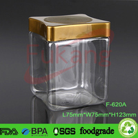 620cc Clear PET Plastic Storage Containers For Buttons Manufacture