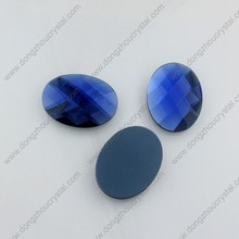 Loose decorative lead free flat back oval glass stone for jewelry making
