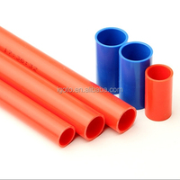 Orange PVC insulated underground and wall electrical cable conduit