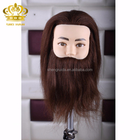 alibaba wholesale hair barber training doll head with mustache