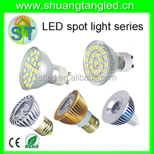 Led table top directional spot light 5w smd chip with MR16/GU10/E27/ G9/B22/E14 base