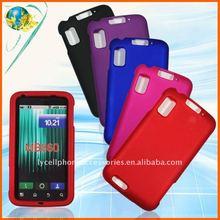 Colorful rubberized hard shell case for Motorola Atrix 4G MB860