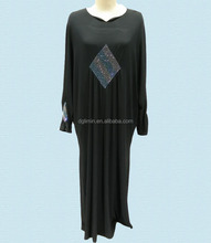 Muslim Dress Black Abaya Islamic Clothing Women Wear Baju Melayu Wholesale Abaya