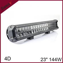 12 V 24 polegada 144 W 4D 4 x 4 voiture gros tracteur LED Offroad lumière Bar
