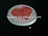 Hot sale heart crystal rhinestone bling metal compact mirror