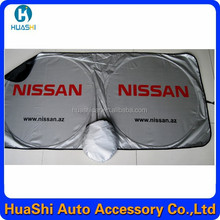 Retractable car visor sunshade with custom logo printing