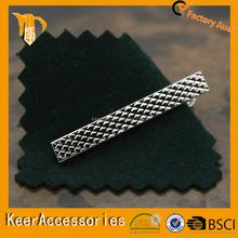 2015 Custom wholesale metal mat nickle tie bar/tie clips for man
