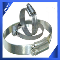 Factory supply ! stainless steel 9mm bandwidth 91-114mm SS201 stainless steel British Type duraline fire hose clamp
