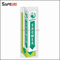 styrene and vinyl 3-way view safety signs first aid snake bite