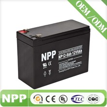 12V 9AH SMF VRLA AGM Storage Deep Cycle Solar 12V Lead Acid Battery