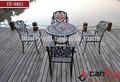 2014 vendas quente ao ar livre mobiliário em alumínio fundido/pátio conjunto de jantar tf-9801