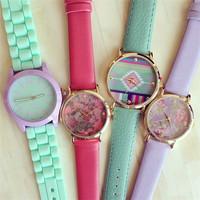 Popular Quartz lady Geneva Watch 2014 New Design