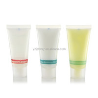 Mini 25ml hotel shampoo in tube with lemon fragrance