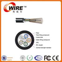 China Factory GYTA G652 SM 98 Core Strand Flexible Aluminum Armored Fiber Optic Cable For Telecom Cabling