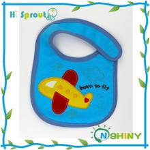 Hi-sprout 100% Cotton Baby bib Toweling baby bib waterproof material
