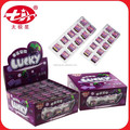 Chiclete sabor uva lucky doces da goma de bolha bg-z028
