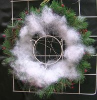 christmas sisal wreath decorations with LED light